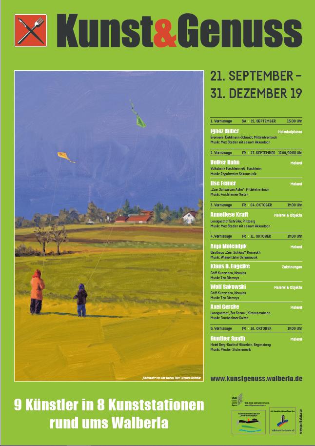 Plakat Kunstgenuss 2019 Kunst & Genuss